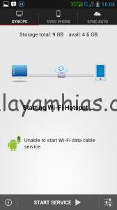 Aplikasi akan membuka sambungan WIFI